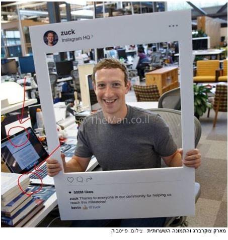 מארק צוקרברג מכסה את מצלמת האינטרנט