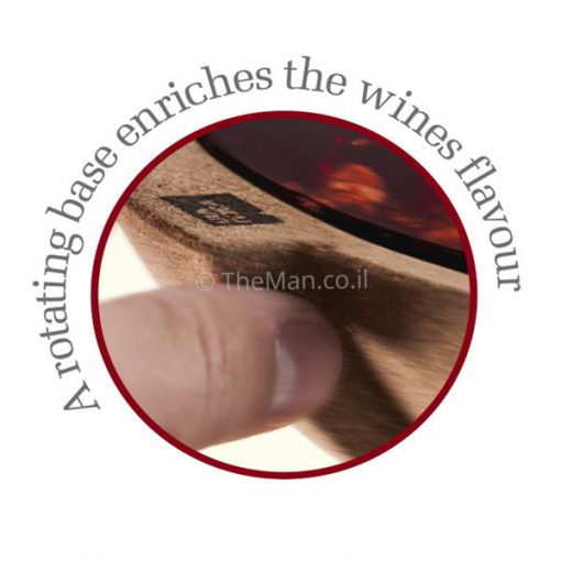 קראף מערבל יין עם תחתית שעם