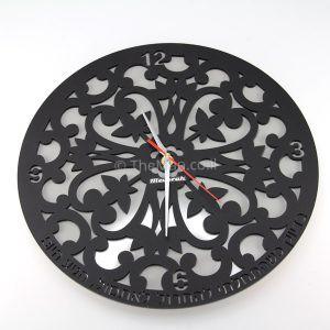 שעון קיר עם גב מראה