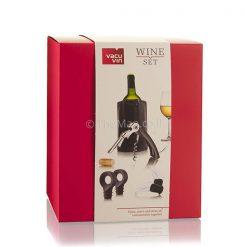 סט אביזרי יין באריזת מתנה