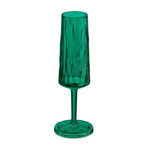 כוס שמפניה SUPERGLAS בצבע ירוק