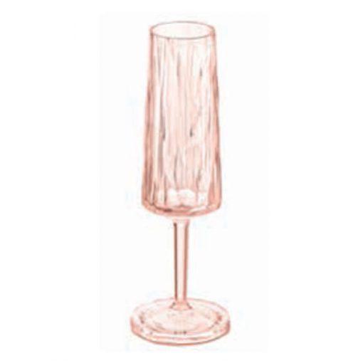 כוס שמפניה SUPERGLAS בצבע ורוד