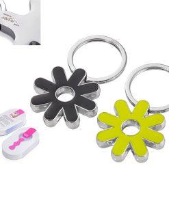 מחזיק מפתחות פרח צהוב שחור של המותג TROIKA