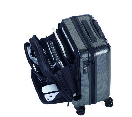 טרויקה טרולי מזוודה עם תאים חיצוניים TROIKA