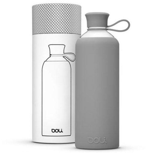 בקבוק זכוכית בצבע אפור