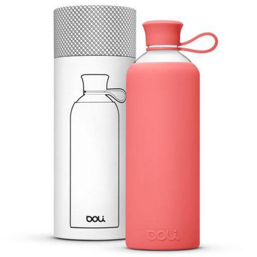 בקבוק זכוכית בצבע ורוד