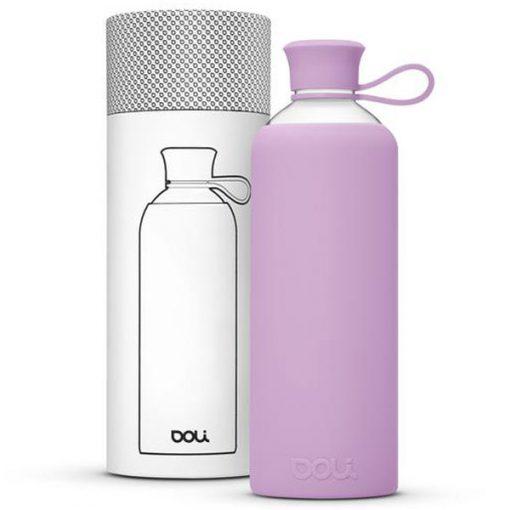 בקבוק זכוכית בצבע סגול