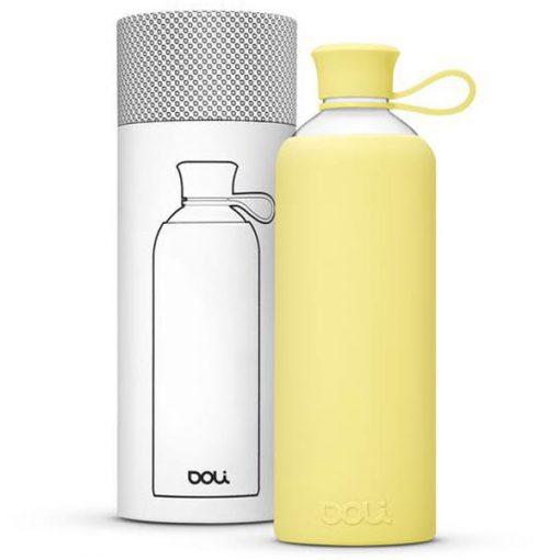 בקבוק זכוכית בצבע צהוב