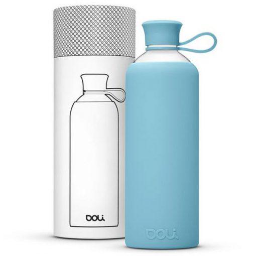בקבוק זכוכית בצבע תכלת