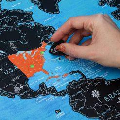 מפת עולם מגניבה