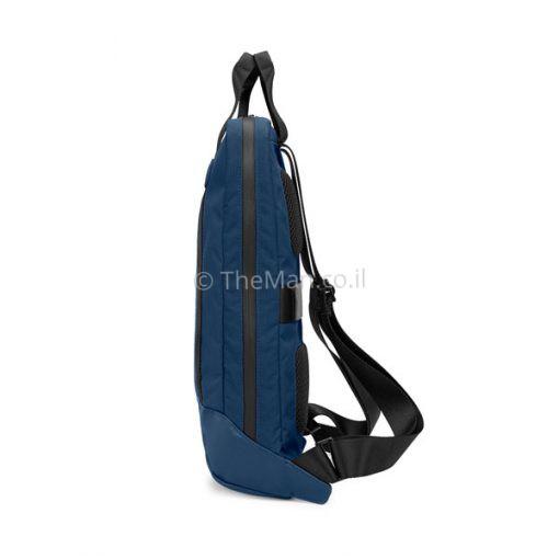 תיק גב כחול למחשב נייד