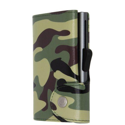 Camouflage-GREEN C SECURE ארנק כרטיסים צבאי מתנה לעובדים