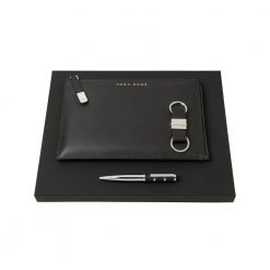 Set-HUGO-BOSS-(ballpoint-pen,-conference-folder-A5-&-key-ring)
