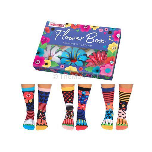 גרביים פרחוניות בעיצוב מיוחד
